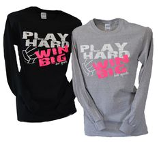 Volleyball Play Hard Win Big Long Sleeve T-shirt from on Etsy. Shop more products from on Etsy on Wanelo. Volleyball Outfits, Volleyball Shirts, Play Volleyball, Volleyball Quotes, Volleyball Players, Softball, Volleyball Ideas, Coaching Volleyball, Volleyball Crafts