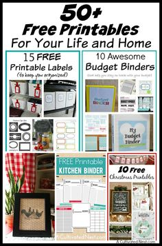 Check out these 50+ free printables for your life and home! These include decorating, budgeting, and organizing printables! Seasonal art printables included! | DIY home decorating ideas | home organizing ideas |