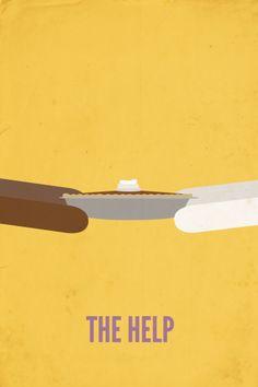 The Help | Minimalist Movie Poster Design | Graphic Design | Via rebekahjm.com