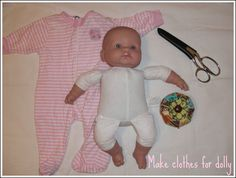 Doll Clothes made from old baby clothes