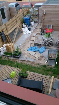Langzaam begint het een tuin te worden