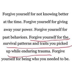 Forgiveness is tough. forgiving other people that hurt you is one thing but truly forgiving yourself for just doing your best and surviving is one of the only ways to find peace ✌🏼 The Words, Image Citation, Motivational Quotes, Inspirational Quotes, Note To Self, Quotes To Live By, Things Change Quotes, People Dont Change Quotes, Judging People Quotes