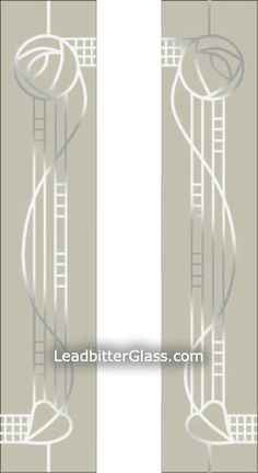 Our Charles Rennie Mackintosh inspired glass designs for split glazed doors or side panels can be altered to suit your exact glass sizes and shape of door/window glass. The Leadbitter Glass studio can create almost any Charles Rennie Mackintosh Designs, Charles Mackintosh, Art Nouveau Pattern, Art Nouveau Design, Sandblasted Glass, Glasgow School Of Art, Stained Glass Patterns, Arts And Crafts Movement, Stencil Designs