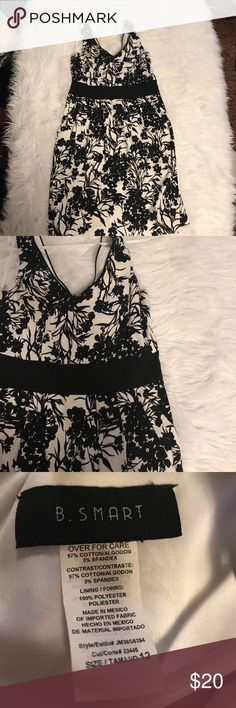 🎉Extremely Beautiful Black and White Dress 🎉Used. Great Condition. Size 12 Color Black and White Flower 🌺 Pattern. Will be dry cleaned before mailing out💕⚠️If you do not like the item you CANNOT return it -Poshmark policy B. Smart Dresses