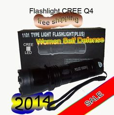 cree Q4 led flashlight self defense TYPE LIGHT 1101 free shipping