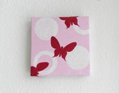 Mini Acrylic Butterfly Painting on Canvas by PaintingStudioVienna, €22.70
