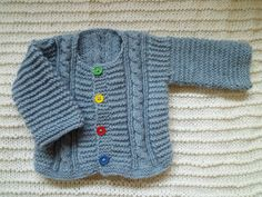 Hand made baby cardigan by KnitDjin on Etsy, $40.00