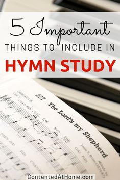 Don't know where to start with hymn study? Here are the most important things that should be included whenever you study hymns in your homeschool, plus a list of hymn study resources to help your kids learn hymns. Homeschool High School, Homeschool Curriculum, Bible Lessons, Music Lessons, School Schedule, Teaching Music, Home Schooling, Bible Studies, Unit Studies