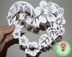 Gear Heart Papercraft Flower Frame Paper Cut Svg Dxf Eps Files and Pdf Png Printable - Printable Papercrafts Paper Cutting Patterns, Paper Cutting Templates, Kirigami, Tarjetas Diy, Paper Cut Design, Heart Frame, Cricut Tutorials, Silhouette Cameo Projects, Pop Up Cards