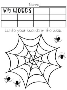 Word Activity Pages Spelling Menu, Spelling Word Activities, Spelling Word Practice, Word Study Activities, Phonics Activities, Spelling Words, Saxon Phonics, Word Web, Teaching Second Grade