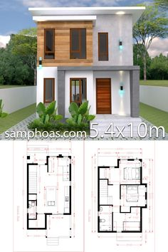 Small Home design Plan with 3 Bedroom -You can find Bedroom and more on our website.Small Home design Plan with 3 Bedroom - Simple House Design, House Front Design, House Design Photos, Modern House Design, Small Modern House Plans, Small House Plans, Layouts Casa, House Layouts, Model House Plan