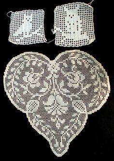 Vintage 3 Crochet Filet Needleworks by JustNeedlework on Etsy, $4.00