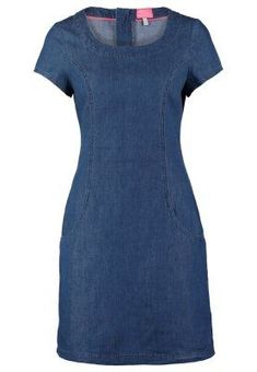 Tom Joule ELISE - Denim dress - dark chambrey for with free delivery at Zalando Linen Dresses, Cute Dresses, Casual Dresses, Casual Outfits, Fashion Dresses, Short Sleeve Dresses, Jeans Dress, Dress Skirt, Sheath Dress