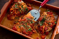 Greek Baked Fish With Tomatoes and Onions Recipe - NYT Cooking Fish Dishes, Seafood Dishes, Fish And Seafood, Seafood Recipes, Cooking Recipes, Healthy Recipes, Vegetarian Recipes, Best Fish Recipes, Paleo Fish Recipes