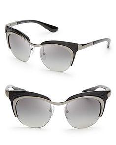 Prada Runway Cat Eye Sunglasses   Bloomingdale's