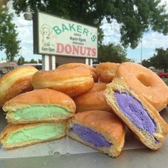 Ice Cream-Filled Donuts from Baker's Donuts, Sacramento California