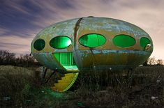 Futuro Houses, the flying saucer UFO homes of the late 1960s and early 1970s http://www.cultofweird.com/blog/futuro-house/