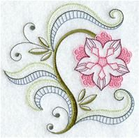 Machine Embroidery Designs at Embroidery Library! - A Vintage Jacobean Floral Design Pack - Md