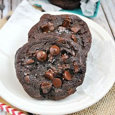 Pudding makes these triple chocolate cookies extra gooey on the inside.