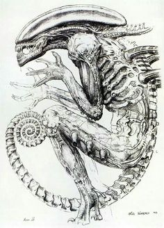 Concept art during Alien³ by Mike Warrell.