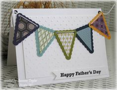 Happy Fathers Day pennants by taylorsil - Cards and Paper Crafts at Splitcoaststampers