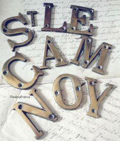 FleaingFrance......Antique Boat Signage Letters--Cote d'Azur