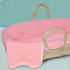 This adorable pink  Moses basket for your bundle of joy!