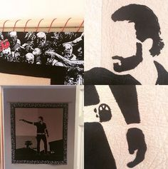 Jenna has finished her The Walking Dead quilt! The silhouette is beautiful! We would love to be able to quilt like her!