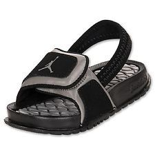 Baby Boys Shoes Jordan HYDRO 2 Sandals Toddler Sizes Black/Grey Free US Ship