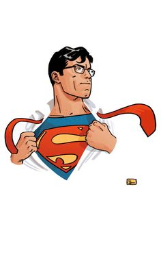 """Clark Kent / Superman by Evan """"Doc"""" Shaner: This looks like a job for -- Arte Do Superman, Superman And Lois Lane, Superman Family, Superman Man Of Steel, Superman Comic, Superman Artwork, Superman Wallpaper, Comic Book Characters, Comic Character"""