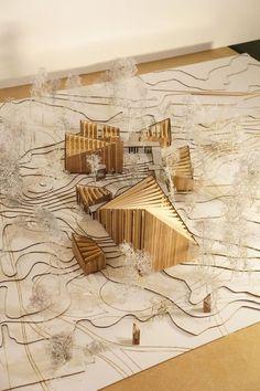 Hatlehol Church Wood Model -  - #Architecture Wood Architecture, Concept Architecture, Architecture Drawings, Tectonic Architecture, Visual Design, Design Art, Design Ideas, Landscape Model, Landscape Architecture Model