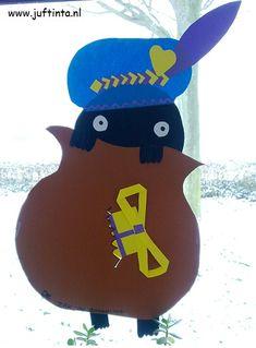 Piet in zak Saint Nicolas, Crafts For Kids, Diy Crafts, Punch Art, Creative Kids, Diy Art, December, Seasons, Winter