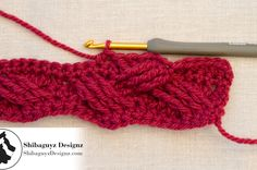 Woven Cables Pattern Stitch, Part 2 - Double Treble Right Cross Crochet Cable Stitch by Shibaguyz Designz