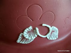 Brush art decoration tutorial. Use cookie cutter as stencil