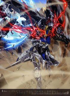 Mecha Anime, Barbatos Lupus, Blood Orphans, Gundam Iron Blooded Orphans, Mecha Suit, Gundam Wallpapers, Gundam Mobile Suit, Robot Concept Art, Gundam Art