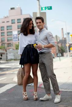 Cute outfit on guy and on girl