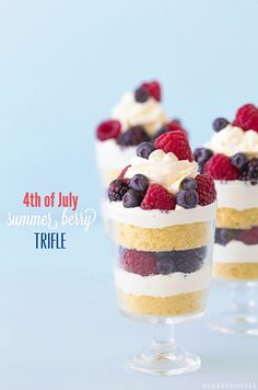 4th of July Summer Berry Trifle   Bakers Royale