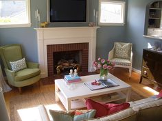 design ideas for small living room with fireplace - Google Search