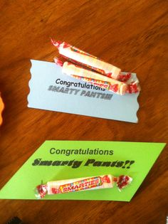 High School Graduation Party Favor!  These might be cute to give as favors since Blake is a smarty pants sometimes.