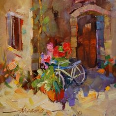 Free Wheelin' in Italy, painting by artist Dreama Tolle Perry