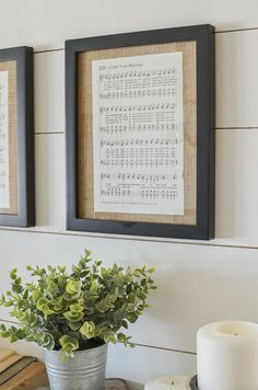 DIY Framed Vintage Hymnal Sheet Music Have you ever noticed how the smallest and easiest projects can sometimes be the most satisfying? That's basically how I feel about what I'm sharing… Framed Sheet Music, Vintage Sheet Music, Vintage Sheets, Sheet Music Decor, Music Wall Decor, Music Room Art, Music Bedroom, Music Sheets, Retro Home Decor