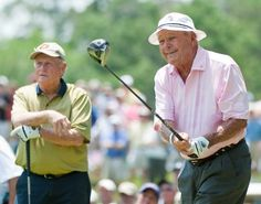 Jack Nicklaus and Arnold Palmer in 2012 Pga Tour Players, Famous Golfers, Augusta National Golf Club, Golf Stance, Pe Teachers, Arnold Palmer, Jack Nicklaus, Sports Photos, Cool Photos