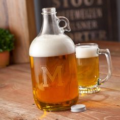 Custom Craft Beer Growler, Engraved Barware, Groomsmen Gifts, Beer Gift, Christmas Gift, Birthday, Father's Day, Gift For Him, Men on Etsy, $23.00