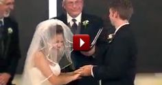 See What Made This Blushing Bride Laugh SO Hard During Her Vows - I want this type of love! Where you don't care who's watching, you're both just having  the time of your life! <3