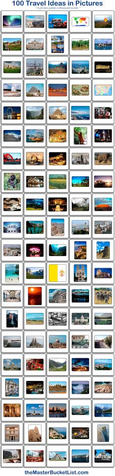 100 Bucket List Ideas in Pictures.
