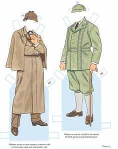 PD273 Sherlock Holmes & Dr. John H. Watson Outfits by Tom Tierney