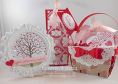 Stampin' Up!'s Berry Basket Bigz Die, You Plus Me and Sheltering Tree stamp set. These projects are for Be My Valentine Class!