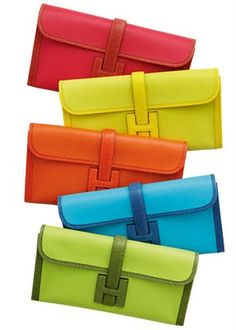 Hermes clutches.