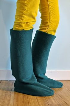 H is for Handmade: DIY Rain Boot Liners - Tutorial