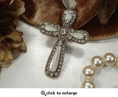 SMALL CLASSIC METAL HANGING CROSS ANTIQUE FINISH
